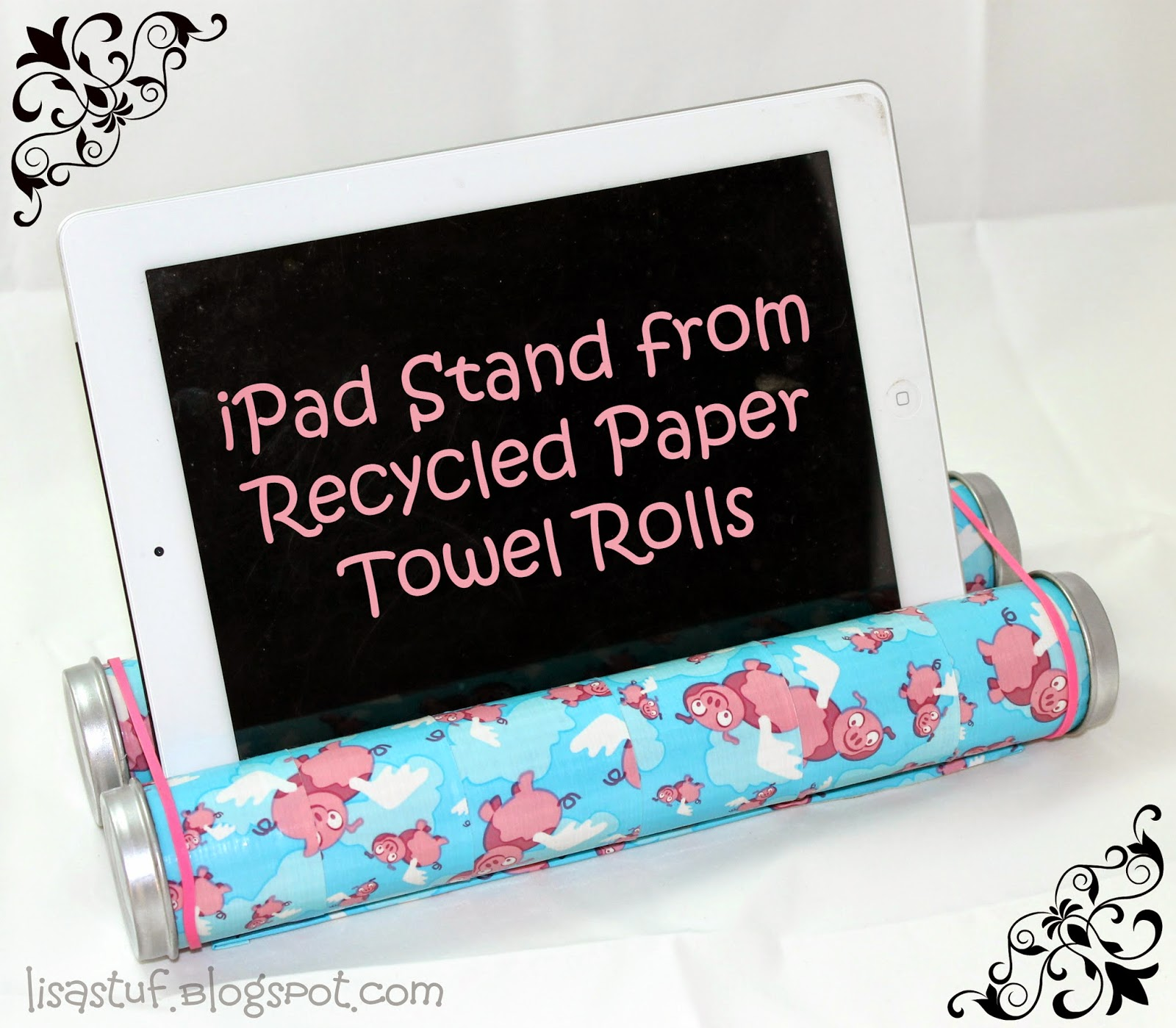 Crafts Made From Paper Towel Rolls: Stuff-n-Such By Lisa: IPad/Tablet Stand From Repurposed