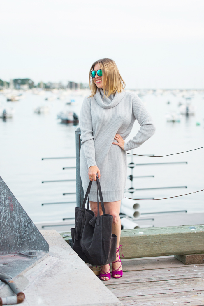Garnet Hill turtleneck sweater dress
