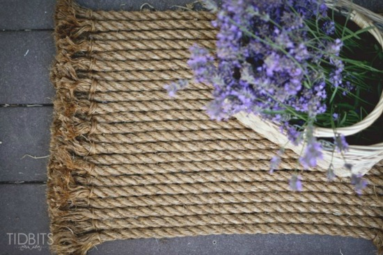DIY rope doormat