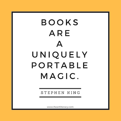 Books are a uniquely portable magic. -Stephen King