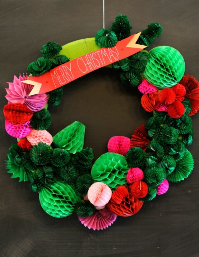 Honeycomb Christmas Wreath