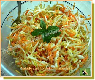 Vie quotidienne de FLaure : Salade aux accents vietnamiens