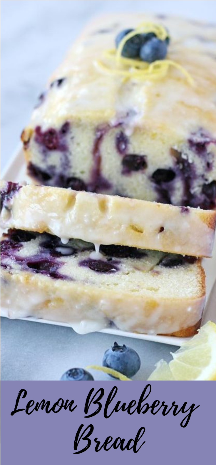 Lemon Blueberry Bread #dessert #cake