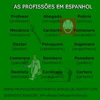 As profissões em espanhol,Vocabulário, Aprender Espanhol, Aprender Espanhol Youtube, Curso de Espanhol, Dicas de espanhol, Espanhol, Espanhol básico, Espanhol para Iniciantes
