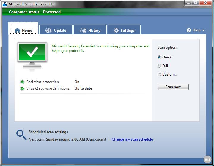 Download MSE terbaru Antivirus