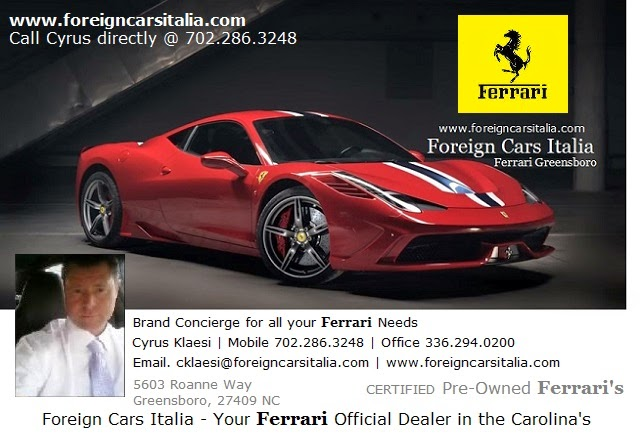 Ferrari Dealership Nc >> Ferrari For Sale Ferrari 4 Sale Foreigncarsitalia