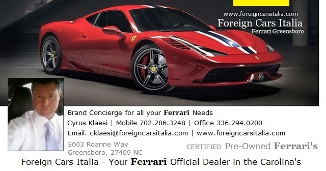 ferrari for sale ferrari 4 sale foreigncarsitalia greensboro charlotte prancing horses. Black Bedroom Furniture Sets. Home Design Ideas