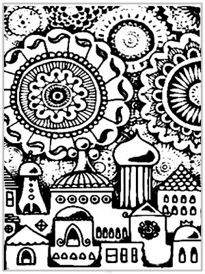 Mosque Coloring Pages For Adult