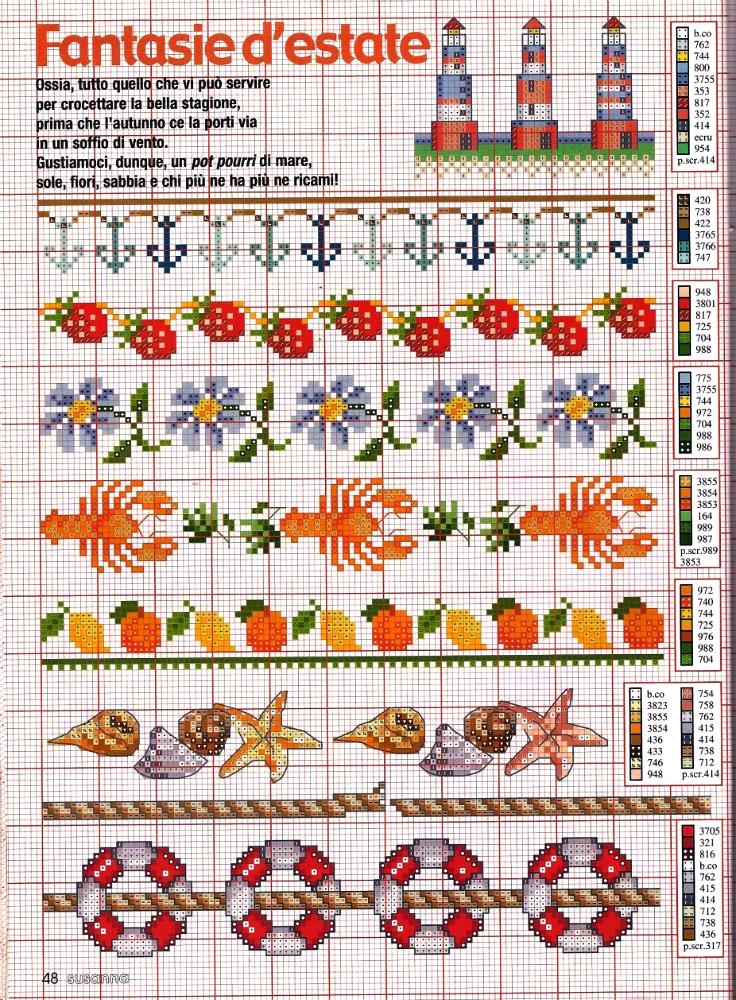 Grandissima raccolta di schemi e grafici per punto croce for Schemi a punto croce gratis