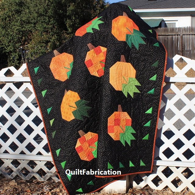 Pumpkin Harvest in the field by QuiltFabrication