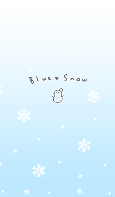 blue snow Christmas theme.