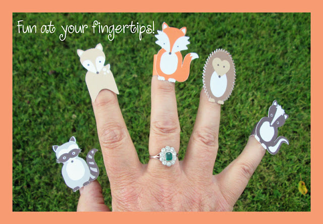 Quick finger puppets made on Silhouette Cameo