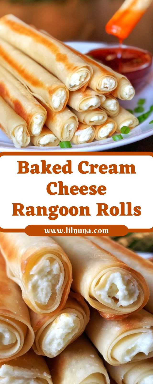 Baked Cream Cheese Rangoon Rolls