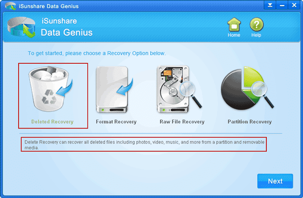 choose file recovery type for Toshiba external hard drive