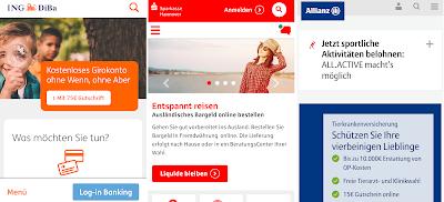 Mobiloptimierung: Bestnoten für ING-DiBa, Sparkasse Hannover und Allianz