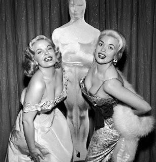 Jayne Mansfield Cleo Moore 1956 Oscars
