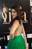 Manjusha in Beautiful Sleeveless Green Anarkali dress at IIFA Utsavam Awards 65.JPG