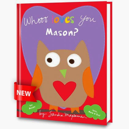 whoo loves you personalized book cover