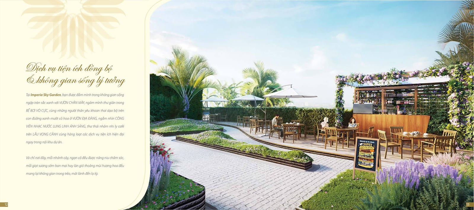 Sky bar trên cao dự án Imperia Sky Garden
