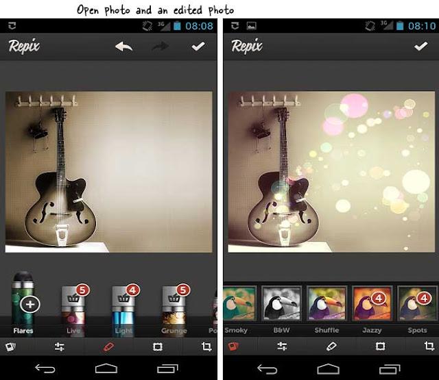 تطبيق Repix تحرير وتعديل الصور على أندرويد