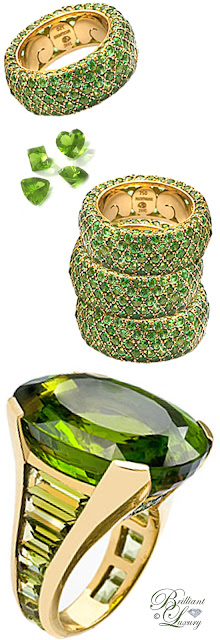 Fochtmann Peridot Rings #jewelry #pantone #brilliantluxury