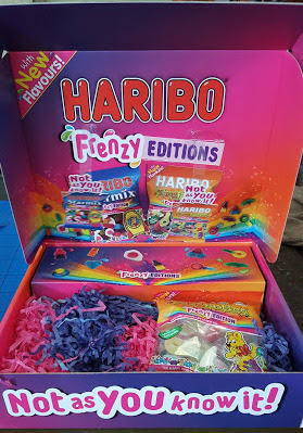Haribo Frenzy Sweet Box open
