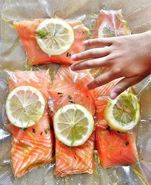 vacuum sealed salmon