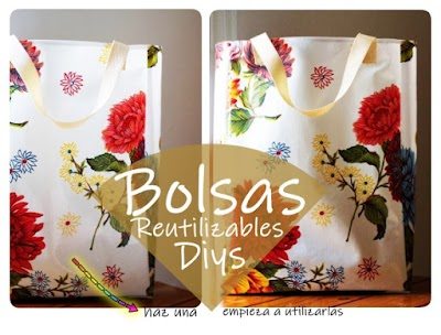 Bolsa floral de supermercado reutilizable con patrón pdf