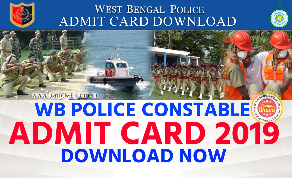 West Bengal Police Constable Admit Card 2019 Download
