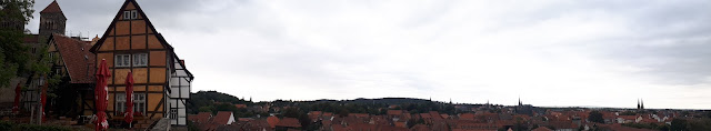 The wonderful view over Quedlinburg from the St Servatius Church hill top.