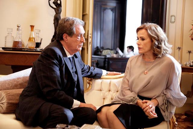 Portal Recordista - Débora sugere ao sogro Giancarlo que ele tire o poder de Adriano das empresas Montana #Apocalipse