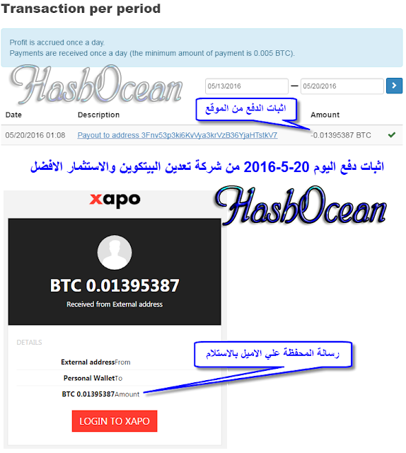 شرح الموقع الافضل hashOcean لتعدين واستثمار البيتكوين