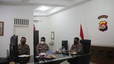 Rakor Polda Banten : Sukseskan Penanganan Virus Covid-19 Melalui Pendekatan 5S1T