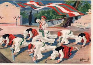 danse basque drapeau