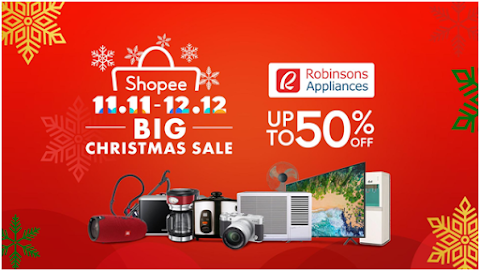 Robinsons Appliances Joins The Biggest Online Christmas Sale of the Year - The Shopee 11.11 - 12.12 Big Christmas Sale