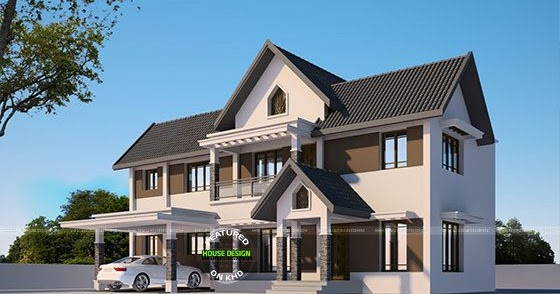 4 bedroom western model home kerala home design and for Western style home plans