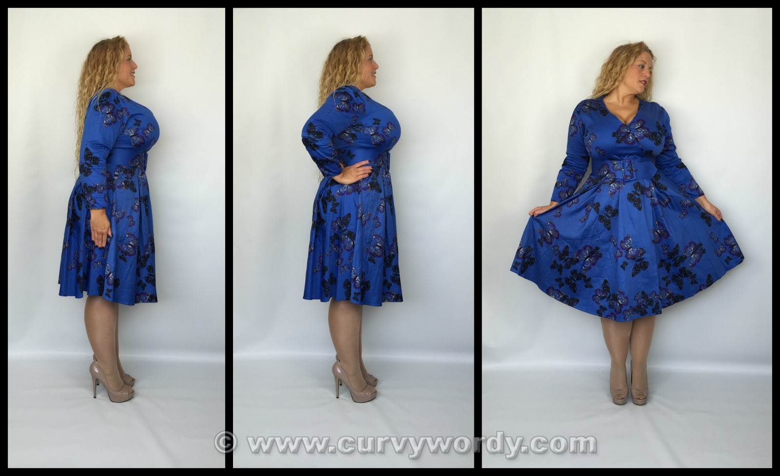 337f4f104 The print is absolutely gorgeous! I have admired this dress on the lovely  Mayah as it looks so pretty on her and she and I so often favour blue  dresses