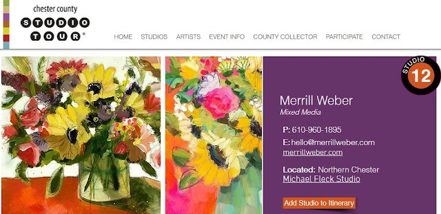 A sampling of Merrill Weber's work you will see at Studio #12 on the Chester County Studio Tour