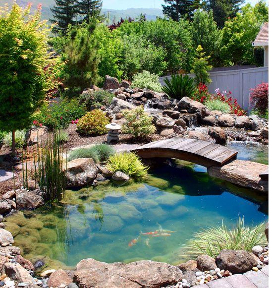 Il giardino delle naiadi ponti e passerelle for Prodotti per laghetto da giardino