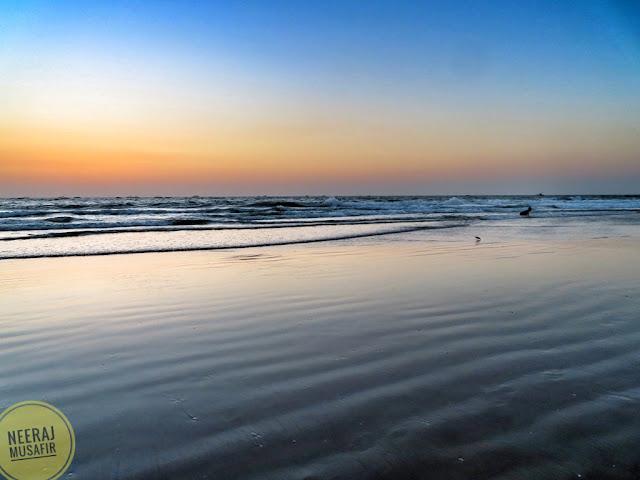कोलवा बीच पर सूर्यास्त