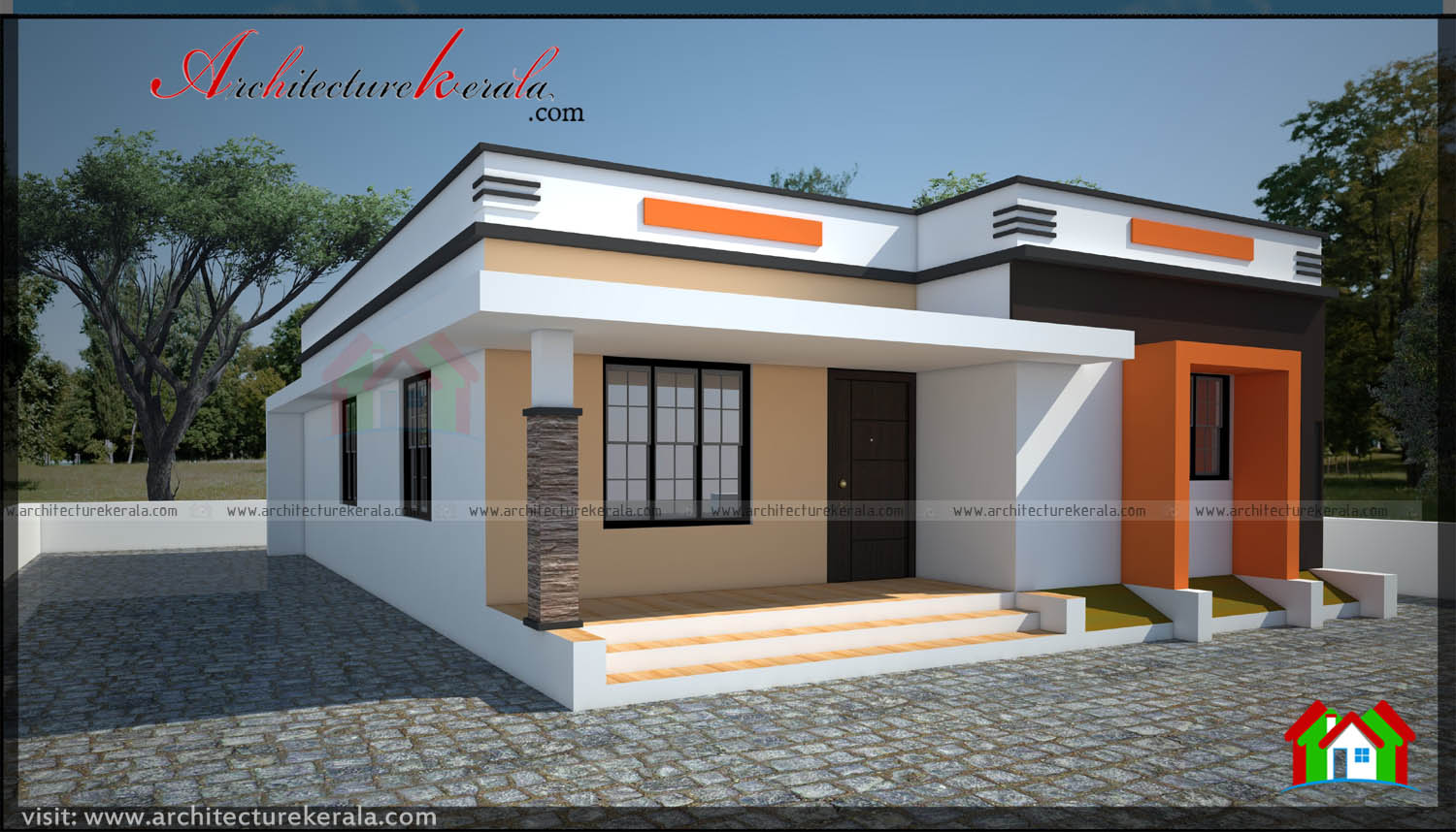 600 square feet simple contemporary home architecture kerala for 600 square feet house