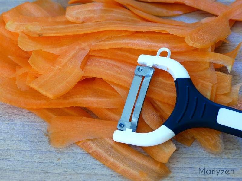 Lamelles de carotte.