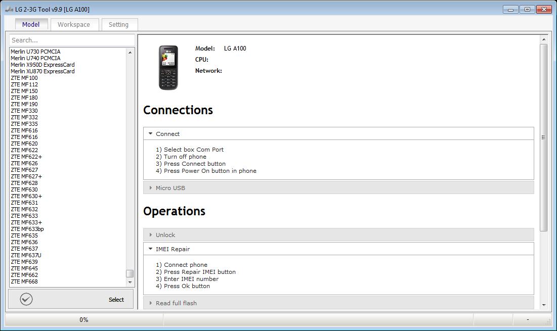 Z3X LG 2 3G Tool v9 9 Without Box - MobilePlus9