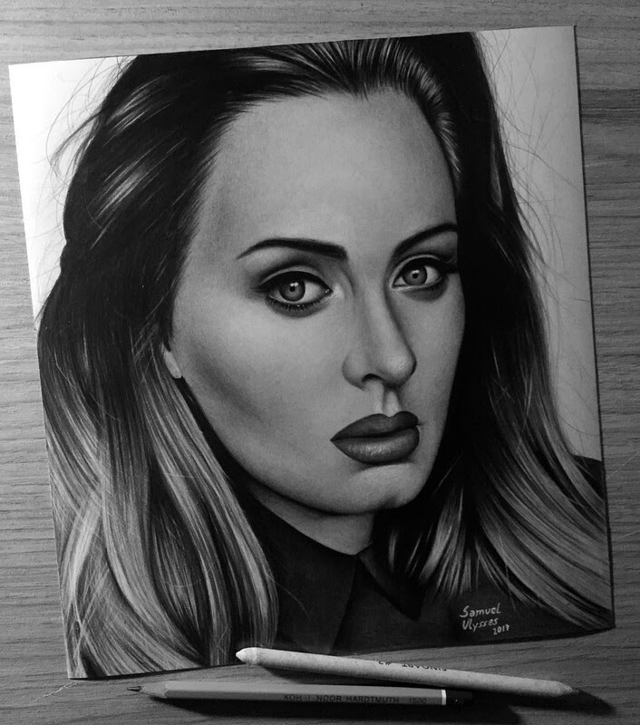 06-Adele-Samuel-Ulysses-Celebrity-Portraits-in-Pencil-www-designstack-co