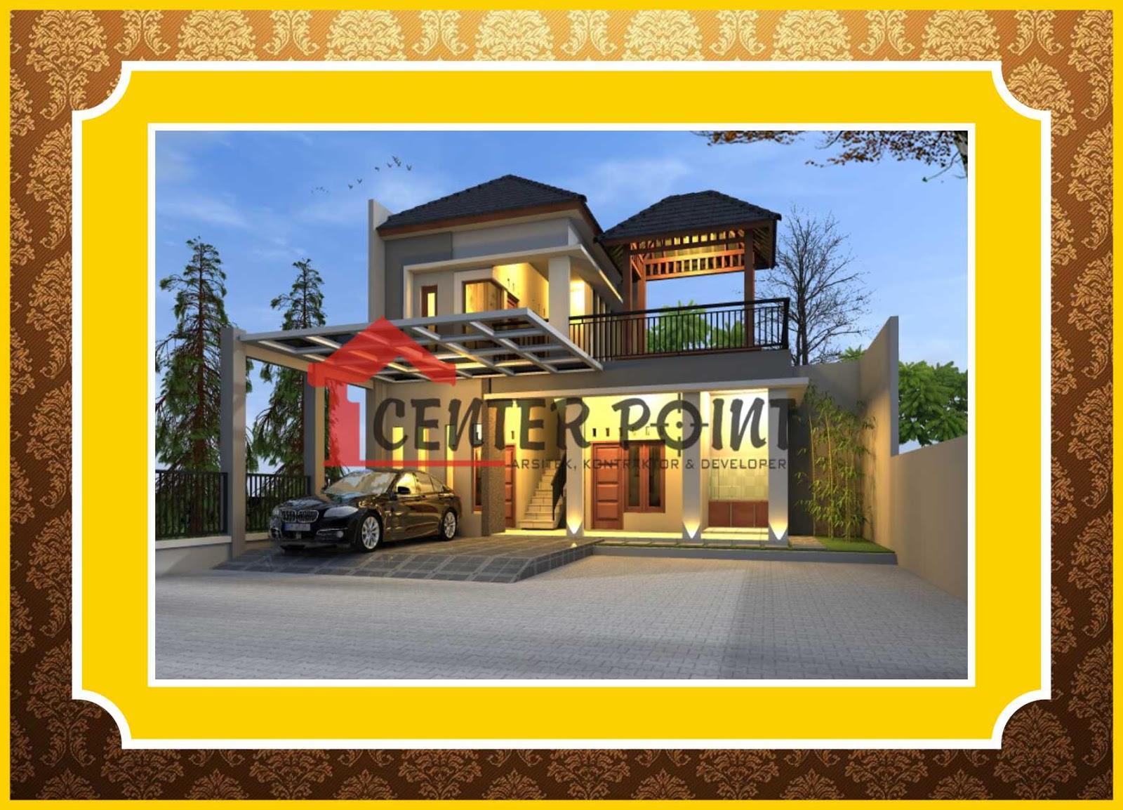Jasa Gambar Rumah Probolinggo Minimalis Etnik Batu Alam Bata