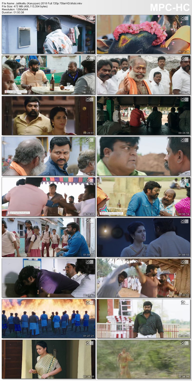 Jallikattu (Karuppan) 2018 Hindi Dubbed 450MB HDRip 720p HEVC x265 2