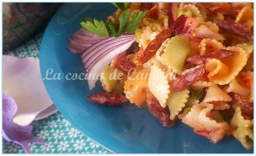 Ensalada de margaritas con mini embutido (La cocina de Camilni)