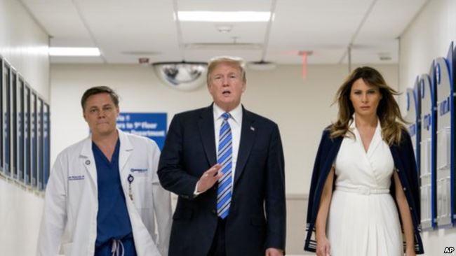 Trump elogió el trabajo del hospital del condado de Broward al atender a las víctimas / AP