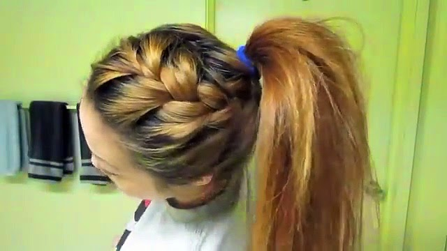 5 Hairstyles For School: 5 Easy Back To School Hairstyles Tutorial Braided Ponytail