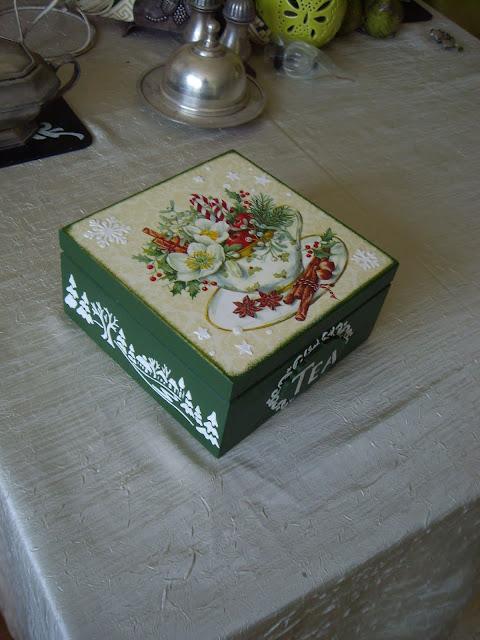 Inspiracje ze świata przyrody – świąteczna herbaciarka z filiżanką :)